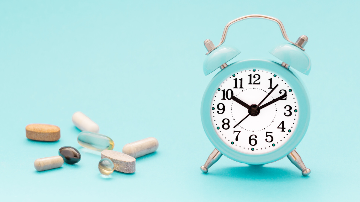 Dietary supplements and alarm clock