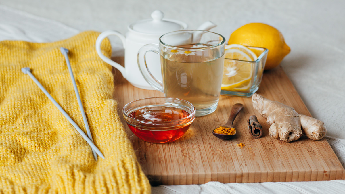 photo of herbal tea for aiding digestion